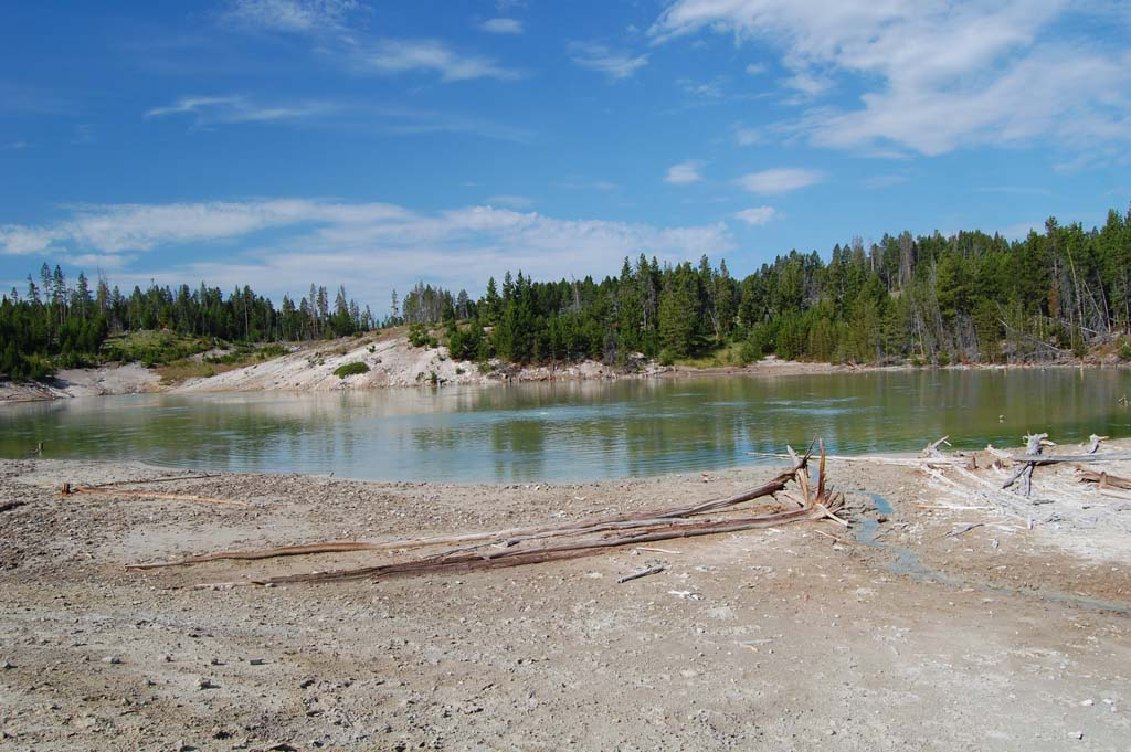Sour lake in the Mud Volcano area in Yellowstone National Park