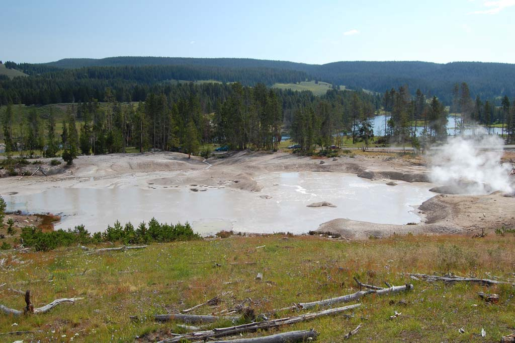 Mud geyser in the Mud Volcano area in Yellowstone National Park