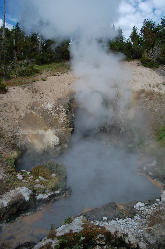 Dragon's Mouth Spring in Yellowstone National Park
